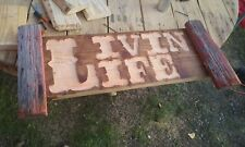 Handmade Hanging Wood Sign WELCOME Front door Country Home Decor Porch Farmhouse