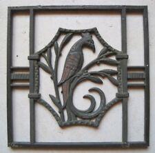 Ancienne Grille plaque Pareclose en Fonte Décoration Architecture Phénix Droite