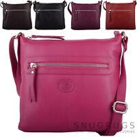 Ladies / Womens Premium Genuine Leather Cross Body / Across Body / Shoulder Bag