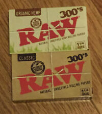 RAW CLASSIC & ORGANIC NATURAL UNREFINED 300 PACK ROLLING PAPERS 600 SHEETS TOTAL