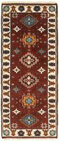 "Vintage Hand-Knotted Carpet 2'6"" x 6'0"" Traditional Oriental Wool Runner Rug"