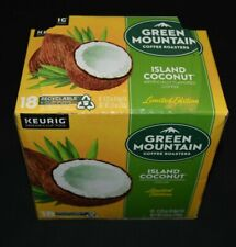 Green Mountain Coffee Island Coconut K-Cups, Single Serve Keurig Pods Lot of 17