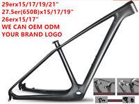 """29er/27.5er 650B Carbon Fiber MTB Mountain Bike Frames 142x12mm 15/17/19/21"""""""