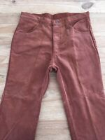 Vintage 70s Sears THUMBS UP Brown Corduroy Flare Leg Pant MATURE FIT 34 x 30 NOS