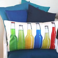"top Kissen Kissenhülle Garten ""Party"" 30x50 Flaschen rot grün gelb blau Proflax"