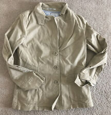 Tommy Hilfiger Women's Jacket Beige Stretch Size 6 Button Pocket Cotton EUC