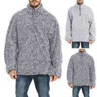 Men's Winter Warm Fluffy Fur Sweatshirt Jumper Turtleneck Tops Sweater Pullover