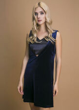 Versace 1969 Navy velvet Party Cocktail A Line dress Dress Size 38 UK 8