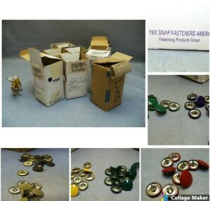 SX 2 prong Button Snaps Apparel Fastener YKK Lot of approximately 8000+ Snaps