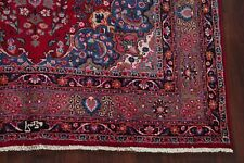 Traditional Floral Kashmar Red Area Rug Hand-Knotted Wool Medallion Carpet 7x10