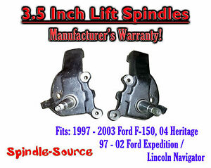 """97 - 03 Ford F-150 F150 Expedition Lincoln Navigator 2WD 3.5"""" inch LIFT SPINDLES"""
