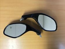Pair of Megelli Sport 125R Black Motorcycle Mirrors Left & Right Hand Mirror