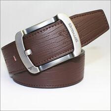 Septwolves Men Belt Genuine Leather Pin Lock Buckle Cow Skin Brown 2023400-Y