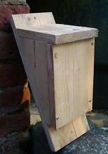 Handmade wooden rustic Bat Box house pipistrelle - rough sawn untreated timber