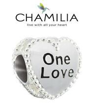 Autentico Chamilia argento Sterling 925 CARAMELLE CUORI ONE LOVE Charm Bead