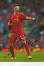 Liverpool Firmato a Mano FABIO BORINI 6x4 foto.