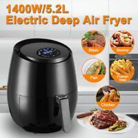 5.5QT / 5.2L Digital Air Fryer Touch LCD Display 360° Heat Oil Free Timer