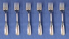 SET OF SIX - Oneida Stainless CITYSCAPE Fish / Dessert Forks * USA