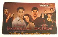 "WALMART CANADA FOIL GIFT CARD ""THE TWILIGHT SAGA BREAKING DAWN"" NO VALUE NEW"