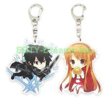 Set of 2 Sword Art Online SAO Anime Acrylic Keychain Asuna, Kirito