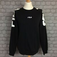 FILA MENS UK S BLACK VERNON CREW NECK  JUMPER RRP £40 SWEATSHIRT