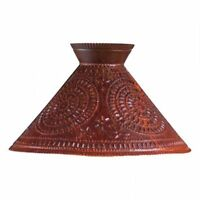Betsy Ross new Distressed Rusty punched tin lamp Shade -16-inch