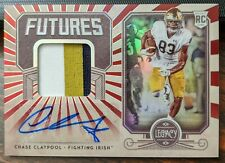 2020 Legacy Chase Claypool Rookie Red Futures Auto Patch /100 Steelers