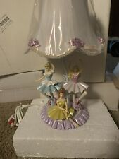 Disney Lamp Princess Cinderella, Belle & Aurora Ballerina Lamp. Rare