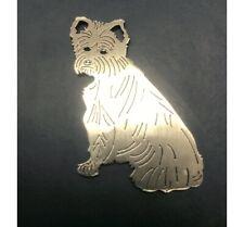 Terrier Dog 2mm Stainless Steel Keyring