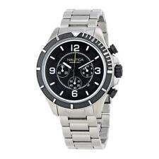 Mens Watch NAUTICA NST 450 NAI21506G Chrono Steel Bracelet Black Sub 100mt