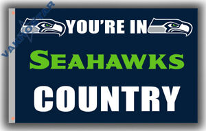 Seattle Seahawks football You're in Seahawks Country Flag 90x150cm 3x5ft banner