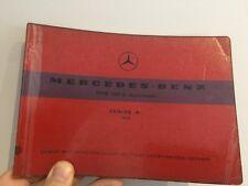 1958 Mercedes 300D Automatic Adenauer Parts Catalogue A Manual