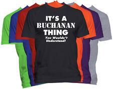 Buchanan Last Name Family Name T-Shirt Custom Name Shirt Family Reunion Tee