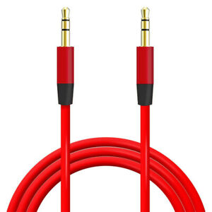 2M Aux Cable Audio Lead 3.5mm Jack to Jack Stereo Male for Car PC Phone Black