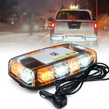Xprite White Amber 36LED Rooftop Beacon Strobe Lights Flashing Emergency Warning