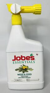 NEW Jobe's Essentials Weed & Feed Liquid Fertilizer Ready to Spray 1.85 lb