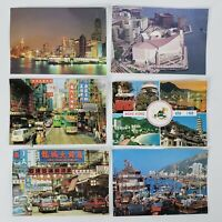 LOT OF 6 HONG KONG VINTAGE POSTCARDS NATIONAL CO. KOWLOON ST. OTHERS UNUSED