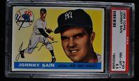 1955 Topps - Johnny Sain - #193 - PSA 8.5 - NM-MT+