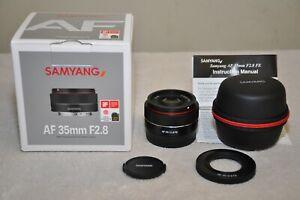 Samyang AF 35mm f/2.8 Autofocus for Sony FE Full Frame E-Mount w/ Box _Excellent