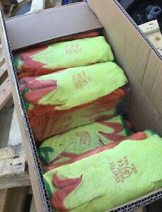 120 Pairs Orange Grip Grab Gloves Builders Safety Work Bulk Saving Kent