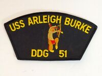 USS Arleigh Burke DDG-51 US Navy Ship Patch Guided Missile Destroyer NEW