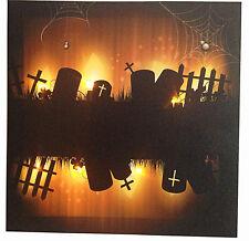 "new Halloween LED canvas Scary graveyard (11.8"" x 11.8"")"
