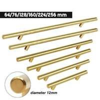 """1-10Pack Polished Gold Cabinet Pulls Stainless Steel Drawer T Bar Handles 2""""-10"""""""