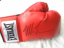 *PRIVATE SIGNING* IRON MIKE TYSON SIGNED EVERLAST BOXING GLOVE JSA WITNESSED COA