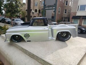 Custom Paint 1966 C10 Slash SCT 2wd Drag Lipo Losi DR10 No Prep 325mm Body Only