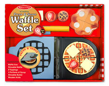 Melissa Doug Wooden Press & Serve Waffle Set 9346