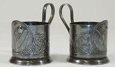 2x Russische TEEGLASHALTER Glashalter - GEMARKT - antik - Russland