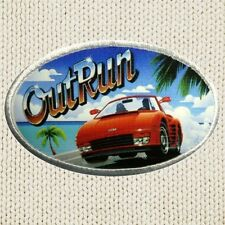 Out Run Patch Picture Embroidered Border Sega Red Ferrari Poster Arcade Racing