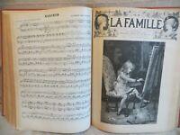 la famille revue du 3 janvier 1892 au 2 juillet 1893 ensemble de 78 numéros