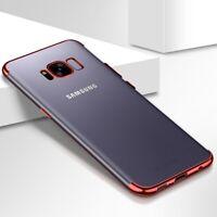 Samsung Galaxy A8 2018 Hülle Case Handy Cover Schutz Etui Schutzhülle Bumper Rot